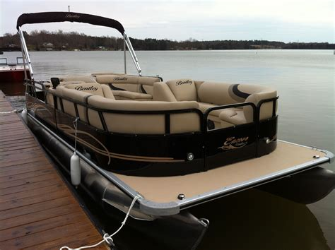 Pontoon Boats Bentley by Luxury Pontoon Boat The Bentley Pontoon Brown Gold
