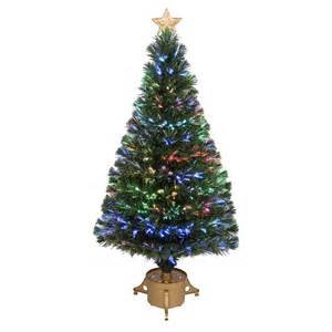 shop merske jolly workshop 4 ft pre lit pine artificial christmas tree with fiber optic