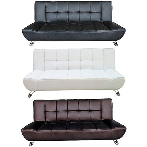 white leather sofa bed lpd furniture vogue faux leather sofa bed available at