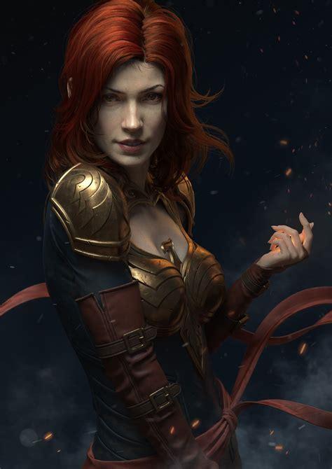 dark phoenix  lvbo huang fantasy character