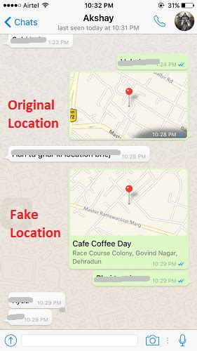 iphone spoof location how to send location on whatsapp