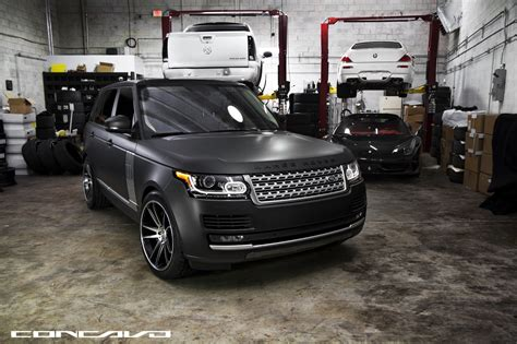 matte gray range rover matte grey range rover on cw s5 s concavo wheels