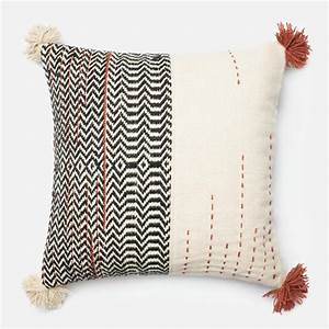 Loloi, Handwoven, Four, Tassels, Throw, Pillow