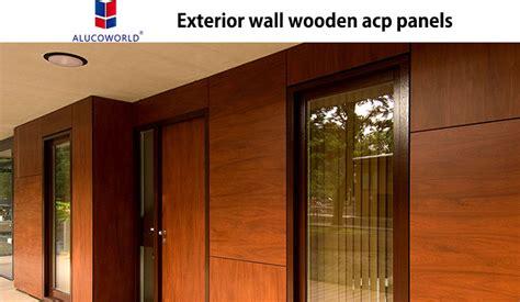 wooden aluminum composite panel  replace wood panelalucoworld acp panel supplier
