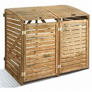Conteneur Poubelle Brico Depot : abri de jardin en bois pour poubelles double jardipolys ~ Melissatoandfro.com Idées de Décoration