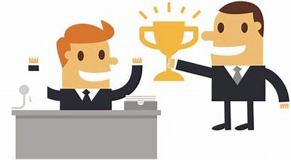 Award Outstanding Business Boss Cartoon Clipart Businessman