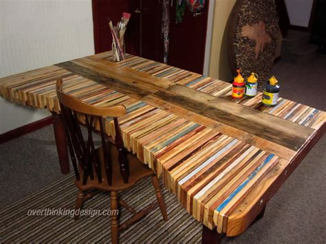 table made from pallets overthinking design