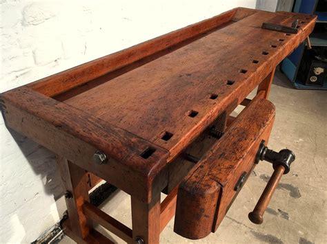 vintage german carpenters workbench  sale  pamono