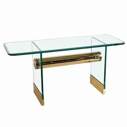 Console Pace Brass Glass 1stdibs Furniture International