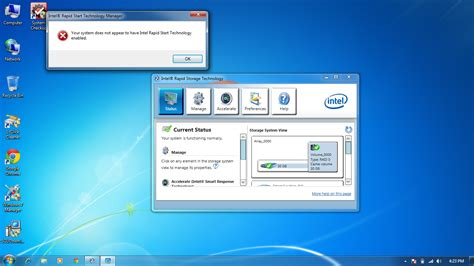 how to enable intel rapid start technology disk drives