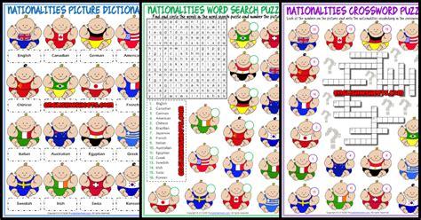 nationalities esl printable vocabulary worksheets