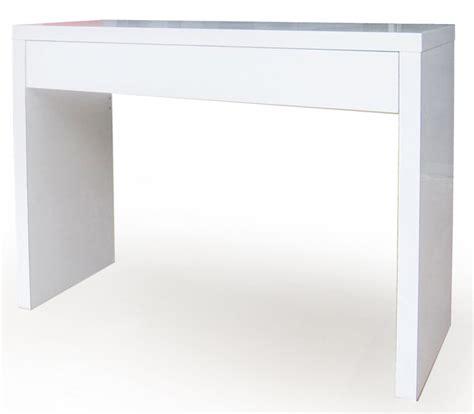 console chambre console avec tiroir epure blanc