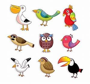 Cartoon cute bird vector-2   Download Free Vectors ...
