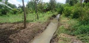 Soil Erosion Control Using A Water Conservation Channel