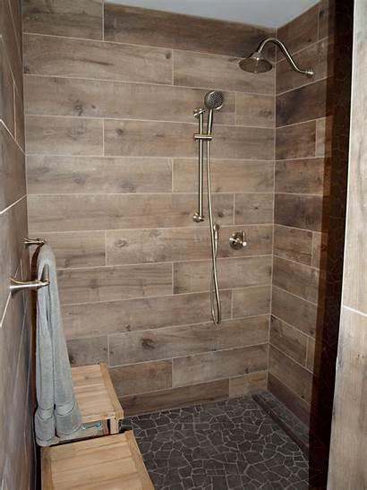 Wood Tile Shower Porcelain Walls Tiles