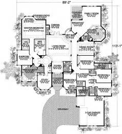 5 bedroom house floor plans florida style house plans 5131 square foot home 1