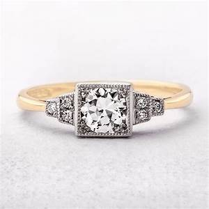 art deco style diamond engagement ring With art deco style wedding rings