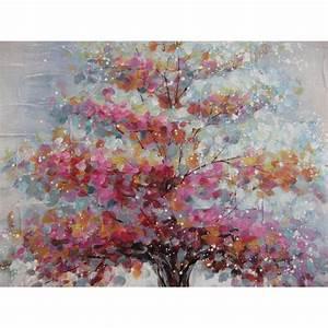 Tableau Peinture Sur Toile : tableau peinture sur toile avec un encadrement gris arbre ~ Teatrodelosmanantiales.com Idées de Décoration