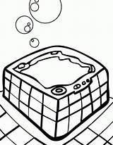 Coloring Tub Pool Slide Water Template Coloringhome sketch template