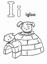 Letter Coloring Igloo Place sketch template