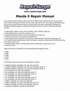 Mazda 5 Repair Manual 2006