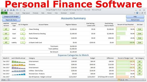 Top Budget Software, Personal Finance Software, Simple