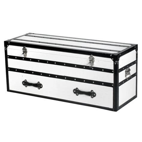 white storage trunk white luggage storage trunk chest of drawers forever 1061