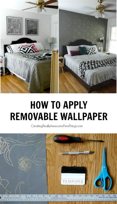 apply removable wallpaper craft