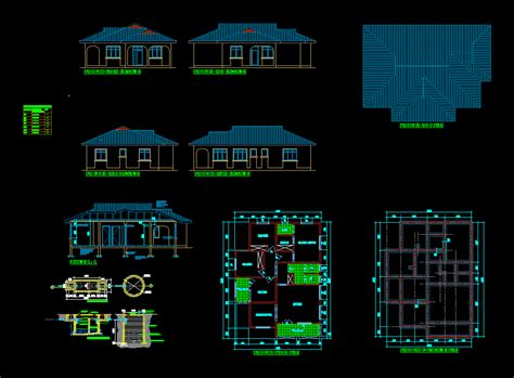 House plan three bedroom in AutoCAD Download CAD free