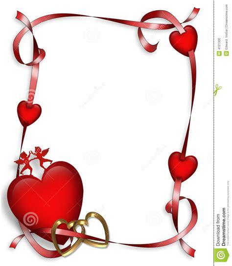 Valentines Day Hearts Border Stock Photo - Image: 4101300