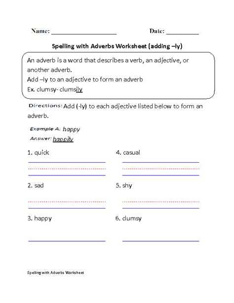 adding ly spelling with adverbs great tools