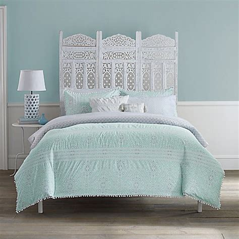 anthology moroccan party comforter set  mint green