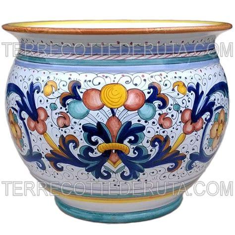 vaso deruta porta vaso ricco deruta giallo