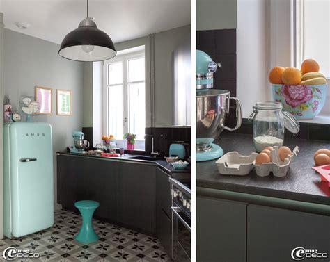 photo deco cuisine decoration cuisine gris vert