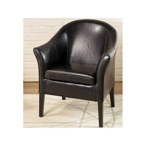 black leather club chair lcmc001clbl