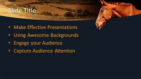 animal equine powerpoint template  powerpoint