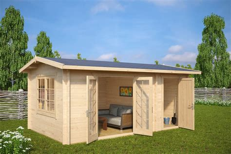 gartenhaus mit schuppen gartenhaus mit schuppen fred 15m 178 44mm 5 x 3 m