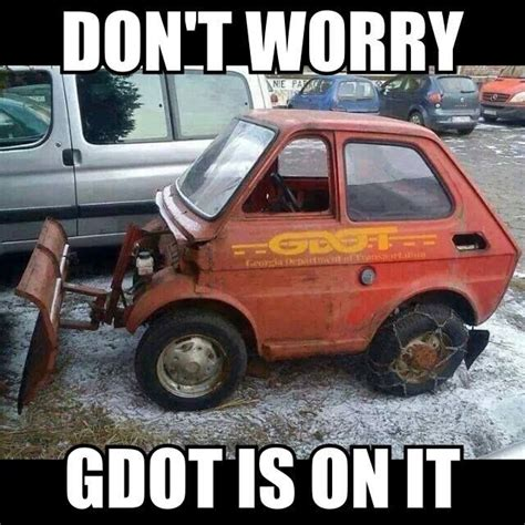 Atlanta Snow Meme - georgia dot snow removal equipment funny pictures 6 pinterest