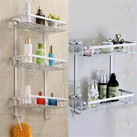 aluminium tower rack shelf shower shampoo storage