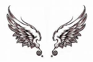 Simple Angel Wings Tattoo Designs - ClipArt Best