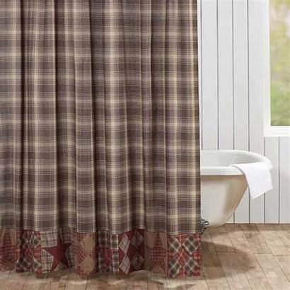 Shower Curtain Star Primitive Dawson Country Patchwork