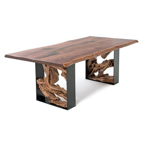 30980 log furniture place modernist twisted trails live edge dining table
