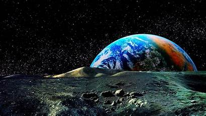 Space Wallpapers Backgrounds Background Universe Moon 3d
