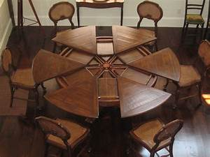 """80"""" to 100"""" round expandable Dining table Solid walnut"""