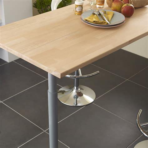 table de cuisine plan de travail plan de travail bois hêtre brut mat l 250 x p 65 cm ep 26