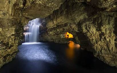 Cave Waterfall Caves Background Wallpapers Wall