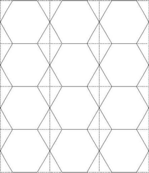2 Inch Hexagon Printable Template/12 Hexies Per A4