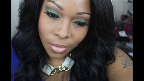 makeup tutorial green eyeshadow tutorial mac nude