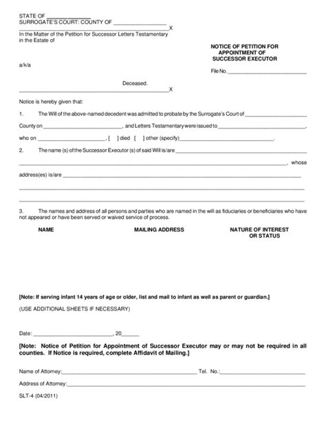 letter  appointment  executor legalformsorg