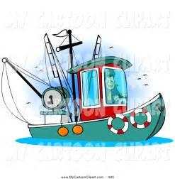Cartoon Fishing Boat Clip Art